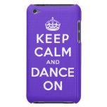 Guarde la calma y baile encendido iPod touch protectores