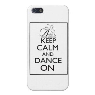 Guarde la calma y baile encendido iPhone 5 carcasa