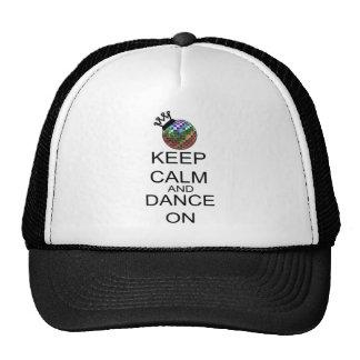 Guarde la calma y baile encendido gorras de camionero