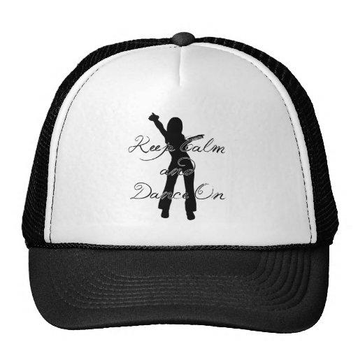 Guarde la calma y baile encendido gorra