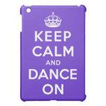 Guarde la calma y baile encendido iPad mini funda