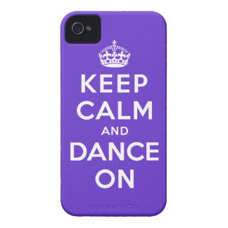 Guarde la calma y baile encendido iPhone 4 cárcasa