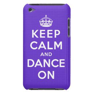 Guarde la calma y baile encendido iPod Case-Mate carcasa