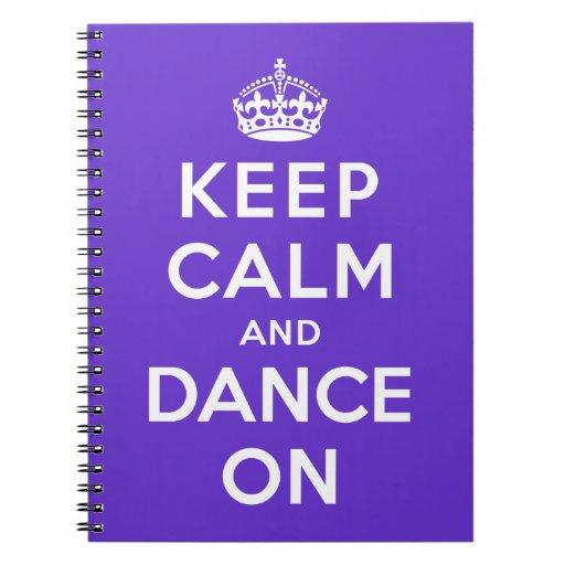 Guarde la calma y baile encendido libro de apuntes