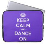 Guarde la calma y baile encendido manga portátil