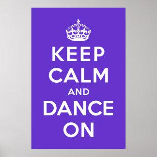 Guarde la calma y baile encendido impresiones