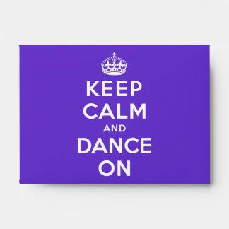Guarde la calma y baile encendido sobre