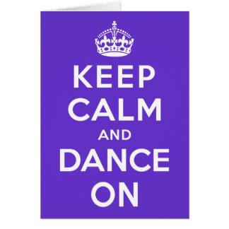 Guarde la calma y baile encendido tarjetas