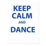 Guarde la calma y baile postal