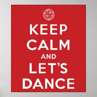 Guarde la calma y bailemos el poster