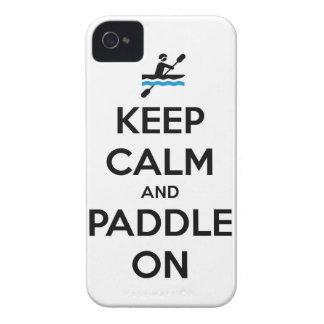 guarde la calma y bátase encendido Case-Mate iPhone 4 cárcasas