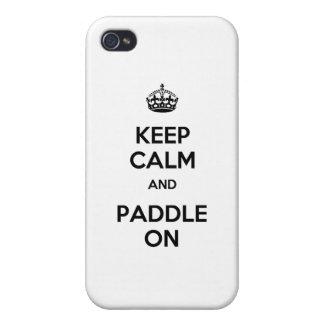 Guarde la calma y bátase encendido iPhone 4/4S carcasa