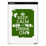 Guarde la calma y beba en (los patricks irlandeses iPad 2 calcomanías