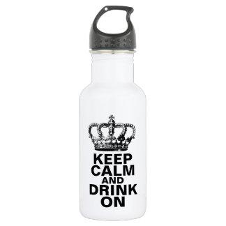 Guarde la calma y beba encendido