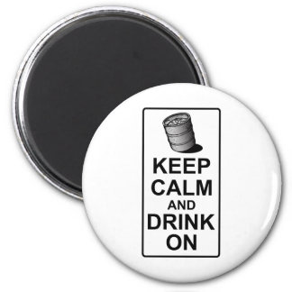Guarde la calma y beba encendido - la parodia brit imán de frigorífico