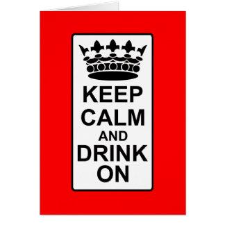 Guarde la calma y beba encendido - la parodia brit tarjeta de felicitación