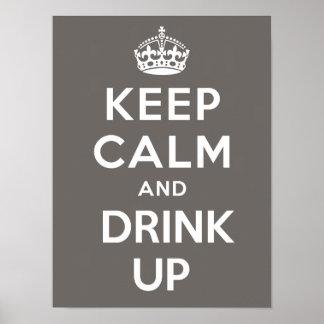 Guarde la calma y beba encima del poster - cacao