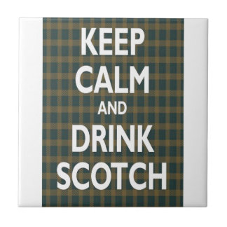 Guarde la calma y beba escocés tejas  cerámicas