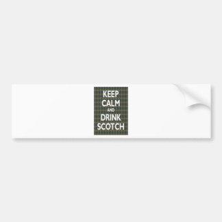 Guarde la calma y beba escocés pegatina para auto