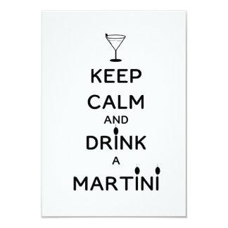 Guarde la calma y beba un Martini Invitacion Personalizada