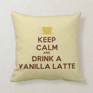 Guarde la calma y beba una almohada de Latte de la
