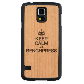 GUARDE la CALMA Y BENCHPRESS.ai Funda De Galaxy S5 Slim Cerezo