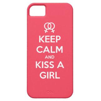 Guarde la calma y bese un caso del iPhone 5S/5 del iPhone 5 Fundas