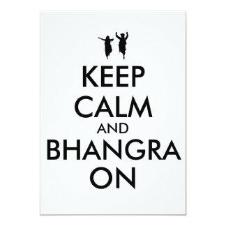 Guarde la calma y Bhangra en personalizable del Invitación 12,7 X 17,8 Cm