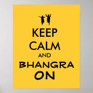 Guarde la calma y Bhangra en personalizable del Póster