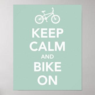 Guarde la calma y bike encendido impresiones