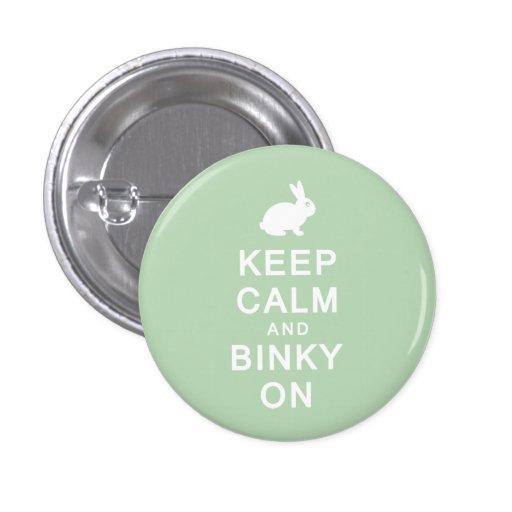 Guarde la calma y Binky en insignia del botón Pin Redondo De 1 Pulgada