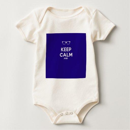 Guarde la calma y body para bebé