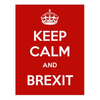 Guarde la calma y Brexit Postales