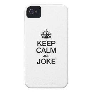 GUARDE LA CALMA Y BROMEE Case-Mate iPhone 4 COBERTURA