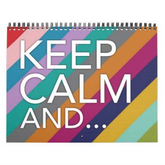 Guarde la calma y… Calendario