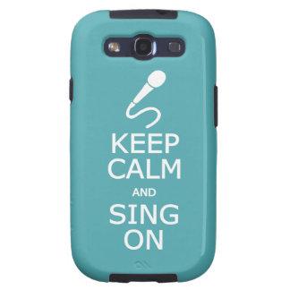 Guarde la calma y cante en el caso de encargo de S Samsung Galaxy SIII Funda