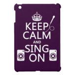 Guarde la calma y cante en (el Karaoke) iPad Mini Cárcasa