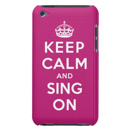 Guarde la calma y cante encendido iPod touch carcasa