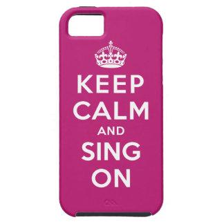 Guarde la calma y cante encendido funda para iPhone SE/5/5s