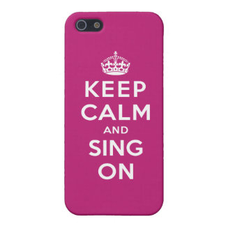 Guarde la calma y cante encendido iPhone 5 carcasa