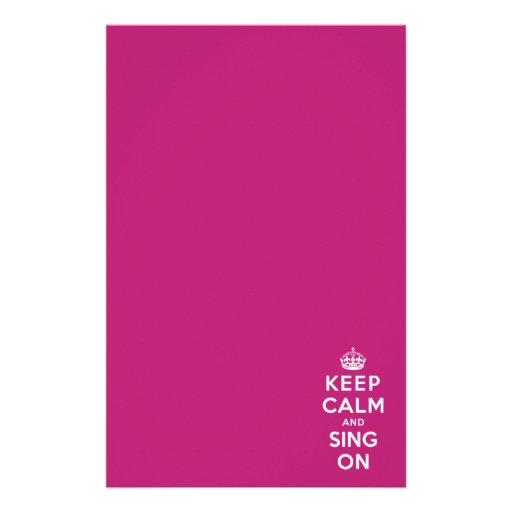 Guarde la calma y cante encendido papeleria personalizada