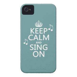 Guarde la calma y cante encendido - todos los carcasa para iPhone 4