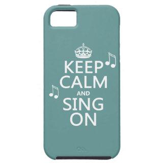 Guarde la calma y cante encendido - todos los colo iPhone 5 Case-Mate fundas