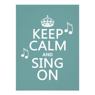 Guarde la calma y cante encendido - todos los colo comunicados