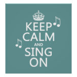 Guarde la calma y cante encendido - todos los colo impresiones