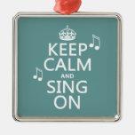 Guarde la calma y cante encendido - todos los ornamentos para reyes magos