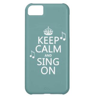 Guarde la calma y cante encendido - todos los funda iPhone 5C
