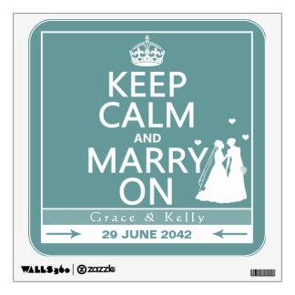Guarde la calma y cásese en el boda lesbiano
