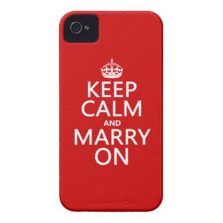 Guarde la calma y cásese en (todos los colores) Case-Mate iPhone 4 cobertura