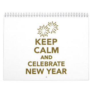 Guarde la calma y celebre el Año Nuevo Calendarios